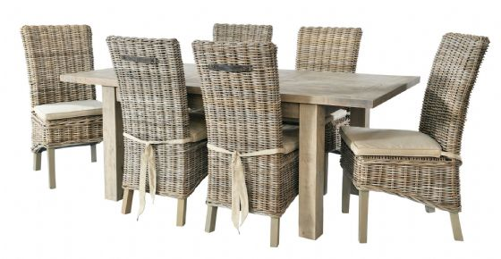 Gaverne Extending Dining Table & 6 Atlantic Chairs - Special Order